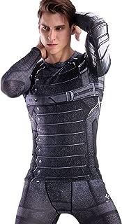 Winter Warrior Men's Compression Sport Fitness Printing Shirt, Long Sleeve T-Shirt