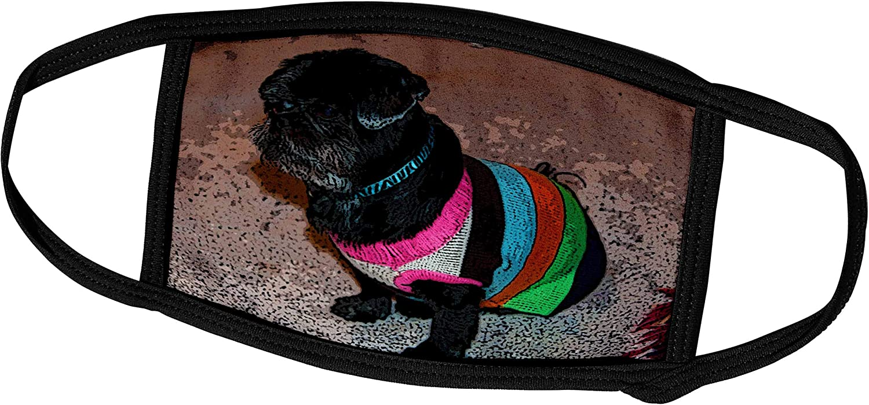 3dRose Adorable Shiatsu Pug Pet Dog Green Pink and 100% quality Genuine warranty Sw in Vibrant