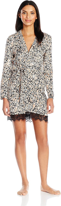 MINKPINK Womens Cheeta Fever Robe Bathrobe