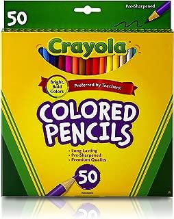 Crayola 绘儿乐 50色彩色铅笔含金银色 68-4050