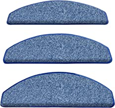 Set of 7 Carpet Stair Treads Non Slip Adhesive Carpet Step Pads Covers Safety Rug Slip Resistant Indoor Runner for Kids El...