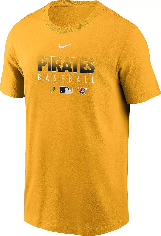 Nike Baltimore Mall Men's Pittsburgh Pirates Dri-FIT T-Shirt Yellow Large discharge sale