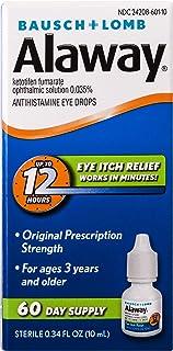 Bausch + Lomb Alaway Antihistamine Eye Drops, 0.34 Ounces/10 mL