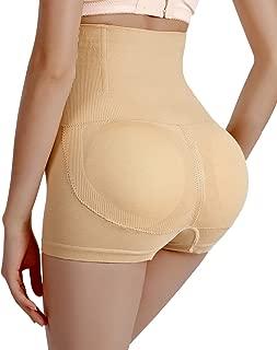 CeesyJuly Womens Padded High Waist Tummy Control Butt Lifter Shapewear Panties Boyshorts