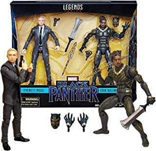 Year 2017 Marvel Legends Black Panther Series 2 Pack 6 Inch Tall Figure Set - Everett Ross and Eric Killmonger with Weapons and Accessories