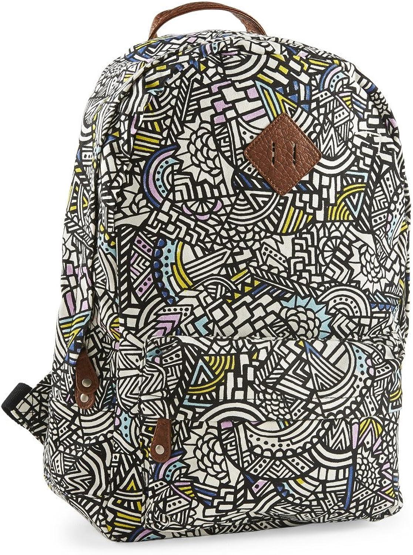 Aeropostale Womens Geometric Doodles Backpack Black
