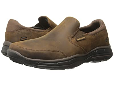SKECHERS Relaxed Fit Glides Calculous (Dark Brown) Men