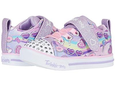 SKECHERS KIDS Twinkle Toes Sparkle Lite Rainbow Skies 314756N (Toddler) (Lavender/Multi) Girl