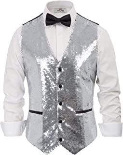 Best sequin silver vest Reviews