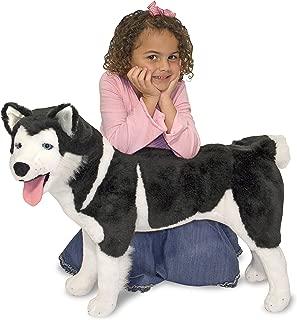 Melissa & Doug Giant Siberian Husky - Lifelike Stuffed Animal Dog (Over 2 Feet Tall, Great Gift for Girls and Boys - Best for 3, 4, 5, and 6 Year Olds)