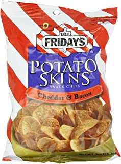 Poore Brothers Tgif Potato Skins Cheddar And  Bacon Flavor, 3-Ounces (Pack of 6)