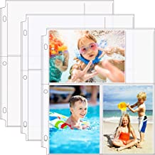 MaxGear 4x6 Photo Sleeves for 3 Ring Binder Archival Photo Pages, Photo Album Pages Clear Photo Sheet Protectors Refill Pa...