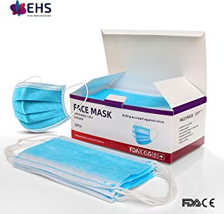 Disposable Face Mask FDA and CE Certified 3 Layer Air Pollution and Protection Mask- 50 Pcs.