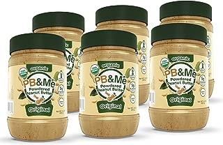 PB&Me USDA Organic Powdered Peanut Butter, Keto Snack, Gluten Free, Plant Protein, Original, 16 Ounce, 6 Count