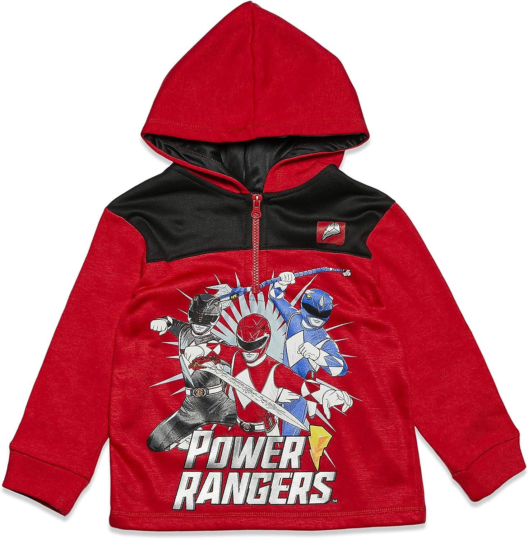 Power Rangers Half-Zip Fleece Pullover Hoodie: Clothing, Shoes & Jewelry