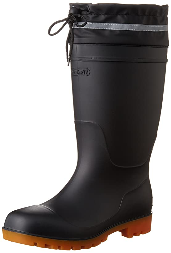 貢献するトリップ引き潮[フジテブクロ] 安全長靴 反射材 吸汗 速乾 抗菌 防臭 PVC 9665 メンズ