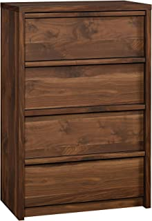 Sauder Harvey Park 4-Drawer Chest, Grand Walnut finish