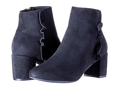 Rockport Total Motion Oaklee Ruffle Boot (Black Faux Suede) Women