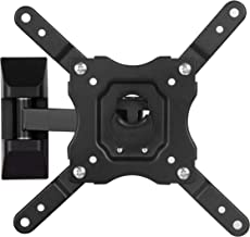 DYNAVISTA Full Motion TV Wall Mount Bracket with Tilting Swivel Arm for 10 to 40 inch Flat Screens TV and Monitors with Max Weight 44 lbs & VESA Mount up to 200mm x 200mm
