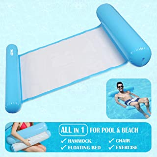 MOlecule Water Hammock - All in 1 Summer Inflatable floating AirBed, Lounge Chair for Pool/Beach - Sky Blue, 130 X 73 CM