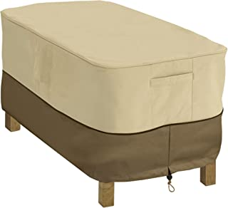 Classic Accessories 55-121-011501-00 Veranda Rectangular Patio Coffee Table Cover, Pebble