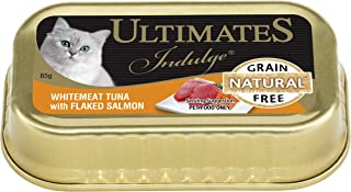 Ultimates Cat Pet Food Whitemeat Tuna with Flaked Salmon, 80 x 85g, 80 Piece