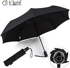 Kobold Business Travel Umbrella Automatic Windproof Foldable Auto Open Close Strong Lightweight Umbrellas for Men Black Teflon Coating Umbrellas