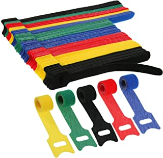150 Pieces Reusable Fastening Cable Ties Cute Bear Cord Straps Multi-Color Hook and Loop Cable Straps Cord Wire Ties Organ...