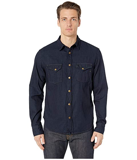 Billy Reid Distressed Denim Shirt