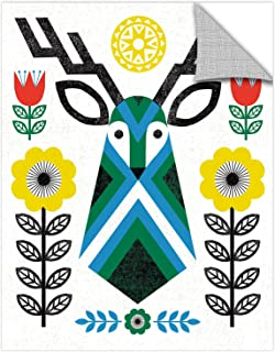 "Tremont Hill Michael Mullan Folk Lodge Deer II Removable Wall Art Mural 24X32"" 2mul049a2432p"
