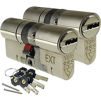 NICKLE 45//10//45 Yale Platinum 3 Star Euro Profile Cylinder Lock 100mm