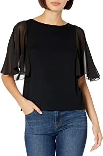 Only Hearts Women's So Fine with Chiffon Circle Sleeve Tee