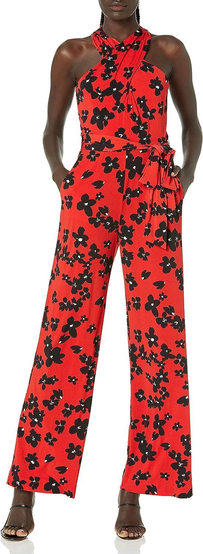 Tahari ASL Women's Neck Crisscross Jumpsuit Max 53% OFF Oklahoma City Mall