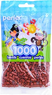 Perler Beads Fuse Beads for Crafts, 1000pcs, Rust Red