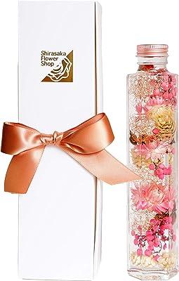Amazon店舗 化粧箱入ハーバリウム Mサイズ (ピンク&レッド)