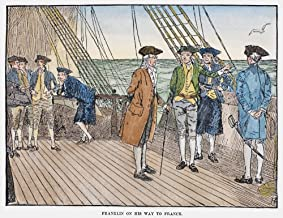 Benjamin Franklin (1706-1790) Namerican Printer Publisher Scientist Inventor Statesman And Diplomat Franklin On His Diplomatic Mission To France Aboard The USS Reprisal In The Autumn Of 1776 Illustrat