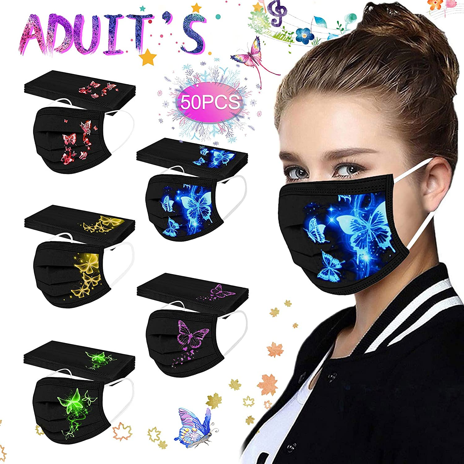 Disposable Adult Mask -Spunlace Cloth Breathable Embossed Protec