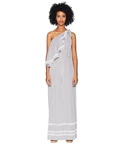Jonathan Simkhai Striped Cotton Jumpsuit Cover-Up (Grey Combo) Women