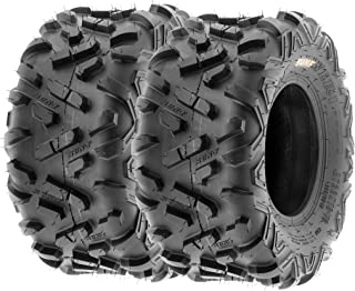 Set of 2 SunF Power.II 22x10-10 ATV UTV Off-Road Tires, All-Terrain, 6 PR, Tubeless A051