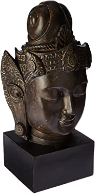 "Oriental Furniture 16"" Cambodian Buddha Head Statue"