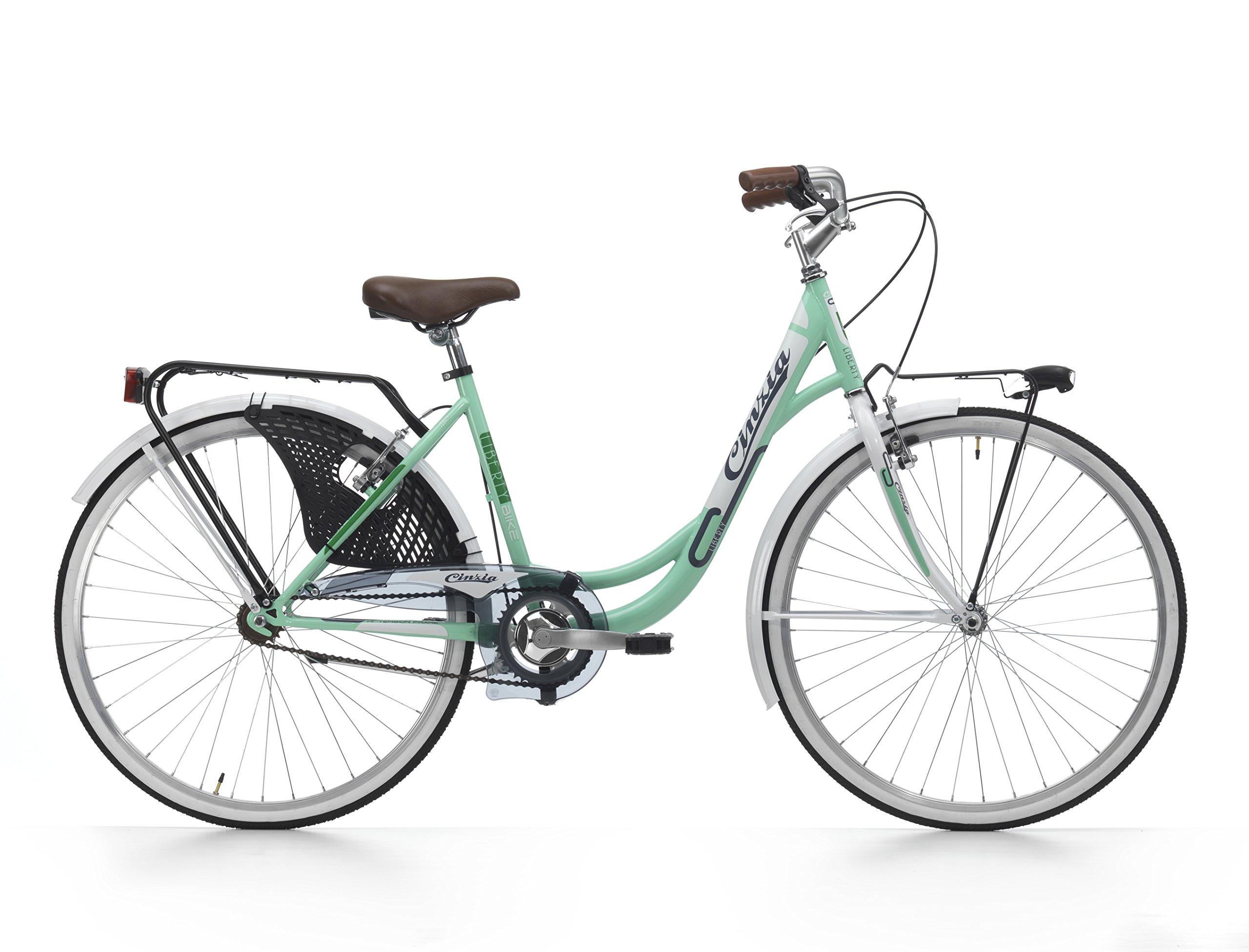 CINZIA Liberty 1V Bicicleta de Paseo, Adultos Unisex, Verde, M ...