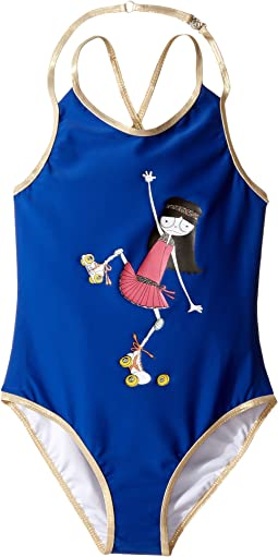 Little Marc Jacobs - One-Piece Miss Marc Swimsuit (Little Kids/Big Kids)