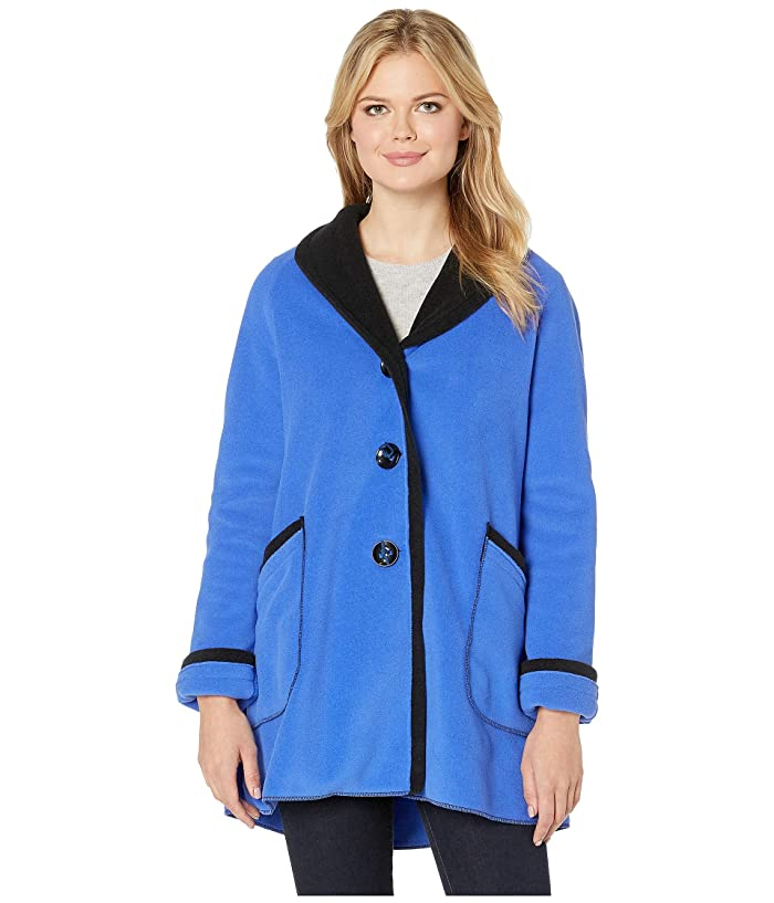 Victorian Jacket, Coat, Ladies Suits | Edwardian, 1910s, WW1 Janska Chloe Coat Cobalt Womens Clothing $135.99 AT vintagedancer.com