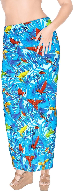 LA LEELA Women's Plus Size Sarong Swimsuit Cover Up Beach Wrap Skirt Full Long N