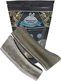 WhiteTail Naturals Premium Split Elk Antlers for Dogs (2 Pack Large) | All Natural Dog Chews | Naturally Shed, Large Antler Horn Chew Toy