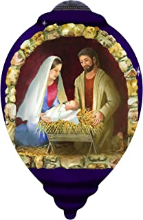 "Ne'Qwa Art, Nativity"" Artist Sandy Lynam Clough, Princess-Shaped Glass Ornament, 7151141"