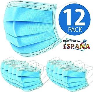 12 Mascarillas Higienicas The Pink House. Máscaras no quirurgicas, Desechables de 3 Capas de protección · Certif. CE · Protección y Seguridad