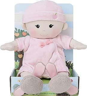 Apple Park Organic Plush Baby Girl With Bunny Booties