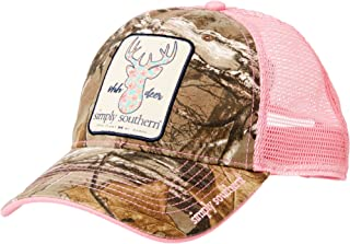 Simply Southern Women's Ohh Deer Trucker Hat, Camo