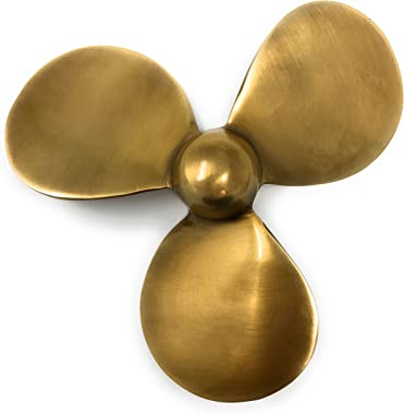 Madison Bay Company Antiqued Brass Nautical Propeller Paperweight, 4.5 Inches Diameter